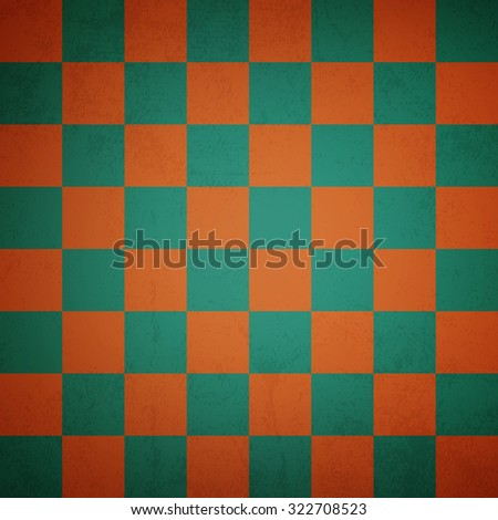 Vintage chess board background - Vector - stock vector