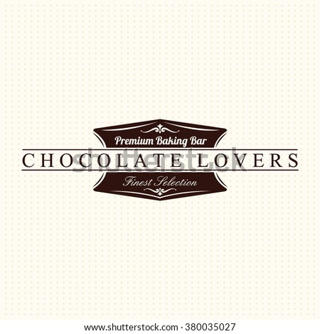 Vintage Chocolate Label - stock vector