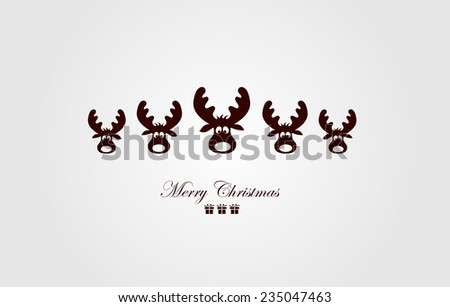 Vintage Christmas Card . Beautiful Christmas illustration. Vector - stock vector
