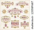 Vintage Christmas Labels. Vector - stock vector