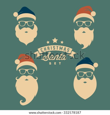 Vintage christmas santa - stock vector