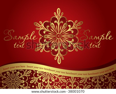 vintage christmas template - stock vector