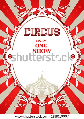 Vintage circus poster with place for text - stock vector