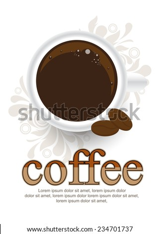 vintage coffee background - stock vector