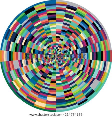 Vintage Color wheel  - stock vector