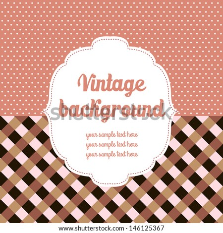 Vintage colored background - stock vector