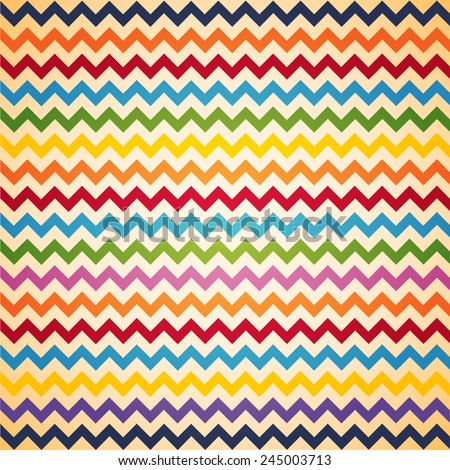 Vintage Colorful Chevron pattern for eggs easter day vector design - stock vector