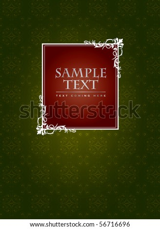 Vintage cover or label concept in editable vector format - stock vector