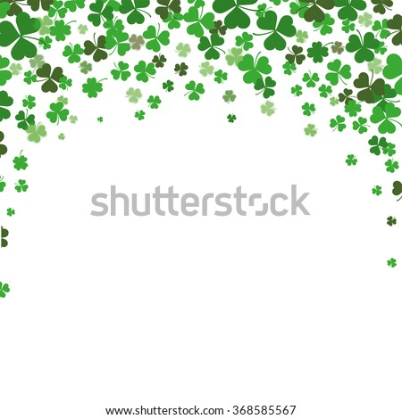 Vintage cover with shamrocks for St. Patrick's Day. Eps 10 vector file. - stock vector