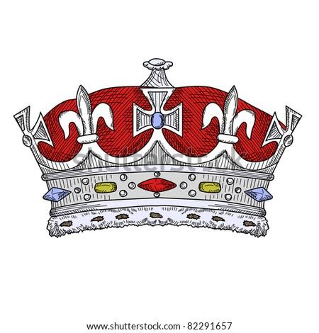 Vintage Crown - stock vector
