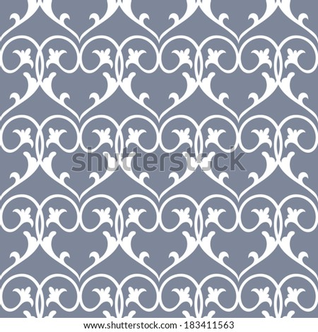 Vintage cute background, heart ornament, beautiful seamless pattern, vector wallpaper, floral fashion fabric, wrapping paper with retro elements, creative swatch fabric, artistic decoration, design - stock vector