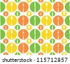 Vintage Cutlery Pattern - Vintage seamless cutlery decoration in fresh colors - stock vector