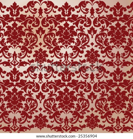 Vintage Damask Pattern - stock vector