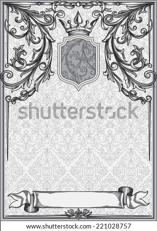 Vintage decorative blank - stock vector