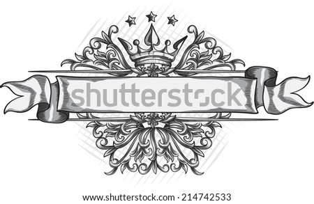 Vintage decorative design element - stock vector