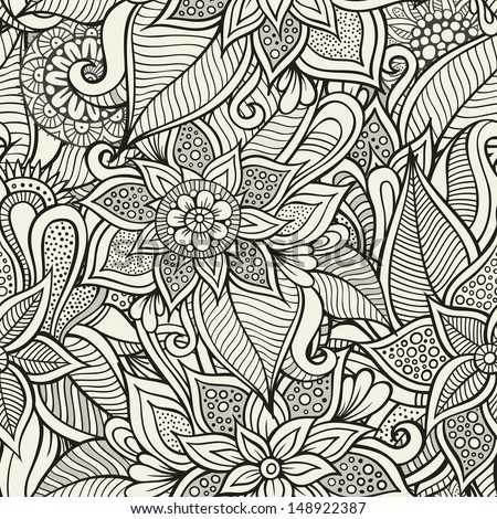 Vintage decorative floral ornamental seamless pattern - stock vector