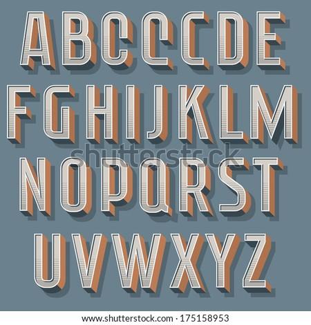 Vintage decorative vector font. Retro typography - 1 - stock vector