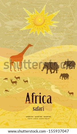 Vintage design for a safari - stock vector