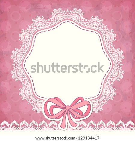 Vintage design invitation/greeting  card - stock vector