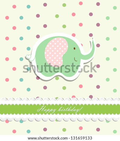 Vintage doodle elephant for frame wallpaper vector eps 10 - stock vector