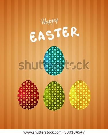 Vintage easter egg design set. Easter collection. - stock vector