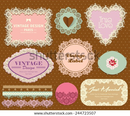 Vintage Elegant Label 2 - stock vector