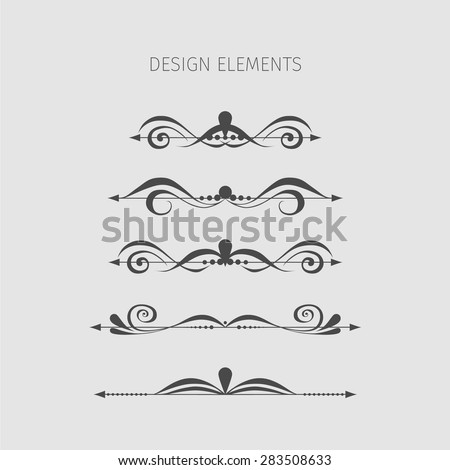 Vintage elements. Vector. - stock vector