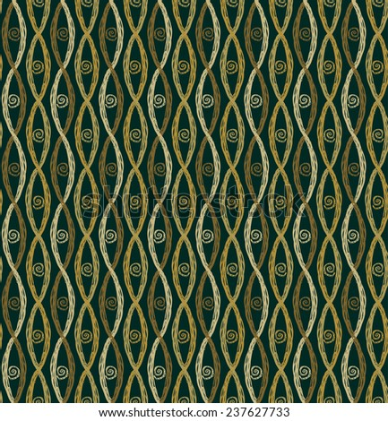 Vintage endless pattern. Plaited doodle texture for design and decoration - stock vector