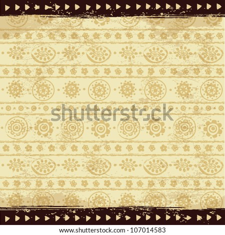 Vintage ethnic ornament background - stock vector