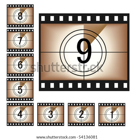 Vintage Film - stock vector