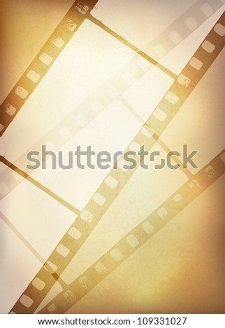 Vintage film strip background, vector illustration, EPS10 - stock vector
