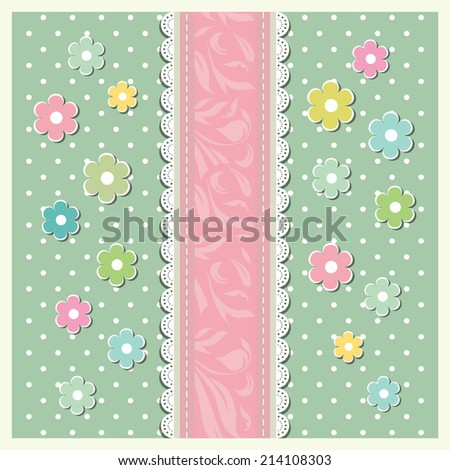 Vintage floral card background vector eps 10 - stock vector