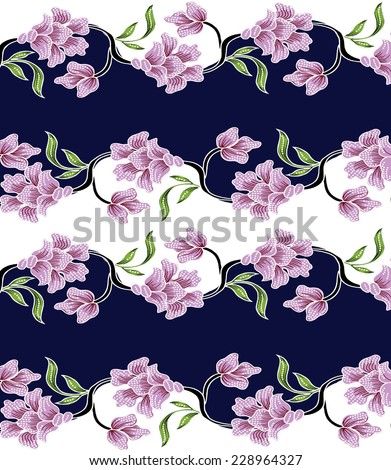 Vintage floral.colorful background. - stock vector