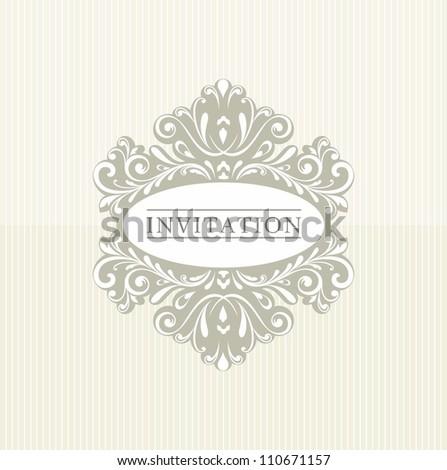 Vintage floral frame. Calligraphic Elements for design. - stock vector
