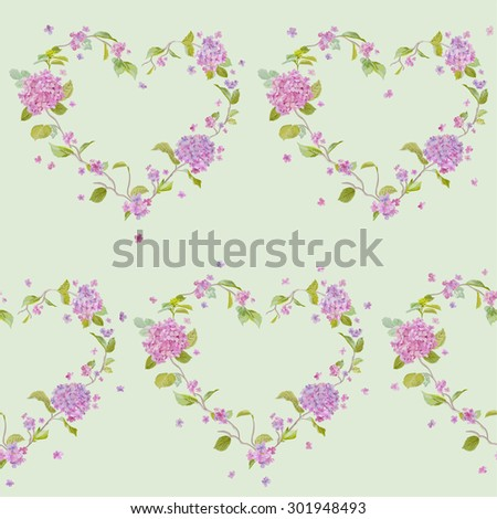 Vintage Floral Lilac Background - seamless pattern for design, print, scrapbook - in vector - stock vector