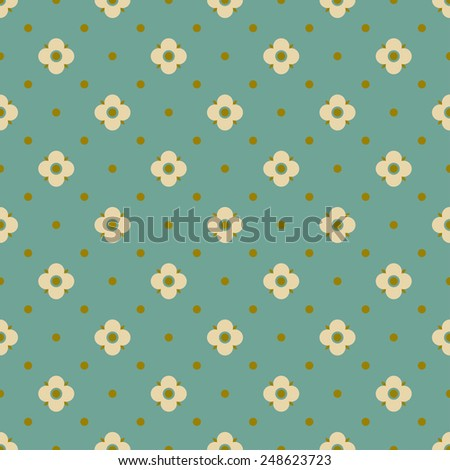 vintage floral pattern. simple seamless floral pattern. all elements are on separate layers. - stock vector