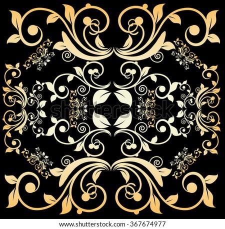 Vintage floral pattern (vector) - stock vector