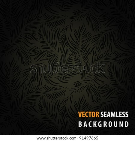 Vintage floral theme background. Contains vector seamless pattern - stock vector