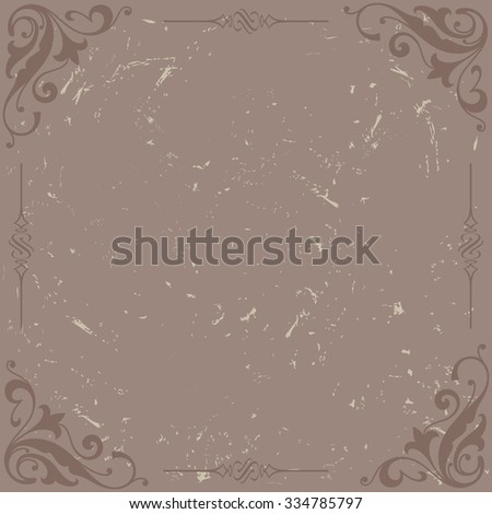 vintage frame - stock vector