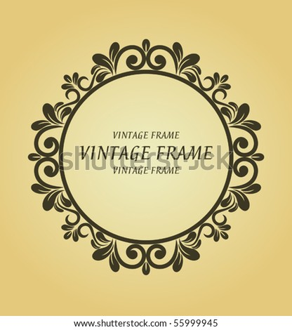 Vintage frame for design. Jpeg version also available in gallery - stock vector