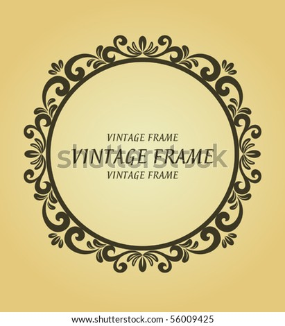 Vintage frame. Jpeg version also available in gallery - stock vector