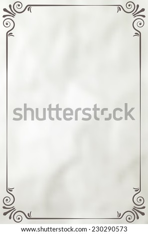 Vintage frame on paper background - place for your text. Vector illustration. - stock vector