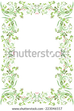 vintage frame with butterflies for your design - stock vector