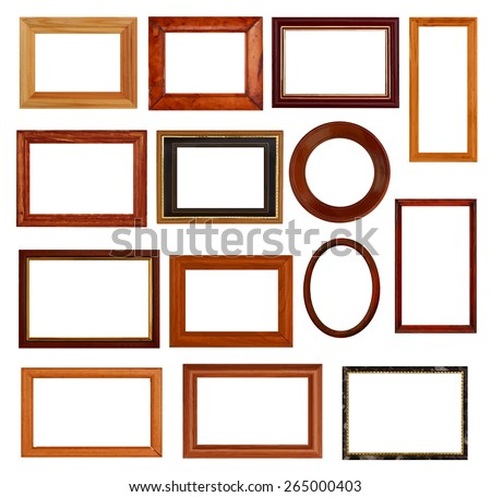 vintage frames set, vector. - stock vector