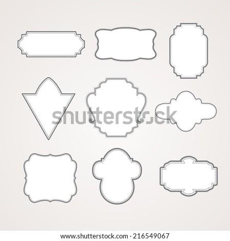 vintage frames vector, EPS 10 Vector. - stock vector