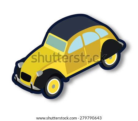 Vintage french car - stock vector