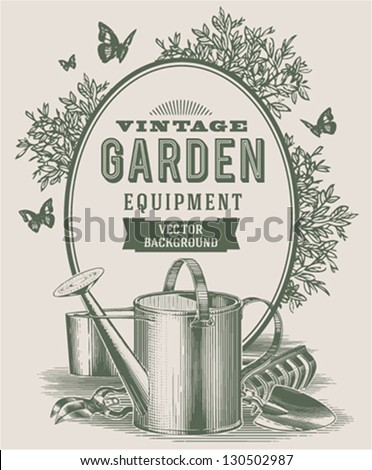 Vintage garden background - stock vector