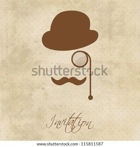 Vintage gentleman portrait - stock vector