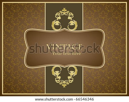 Vintage greeting card for any event - stock vector