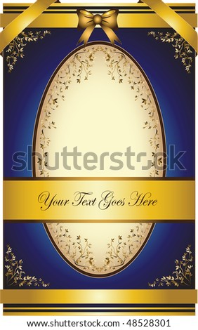 vintage greeting card with ribbons for invitation or congratulation. Wedding Card. Please see more similar images in my gallery, thanks. - stock vector